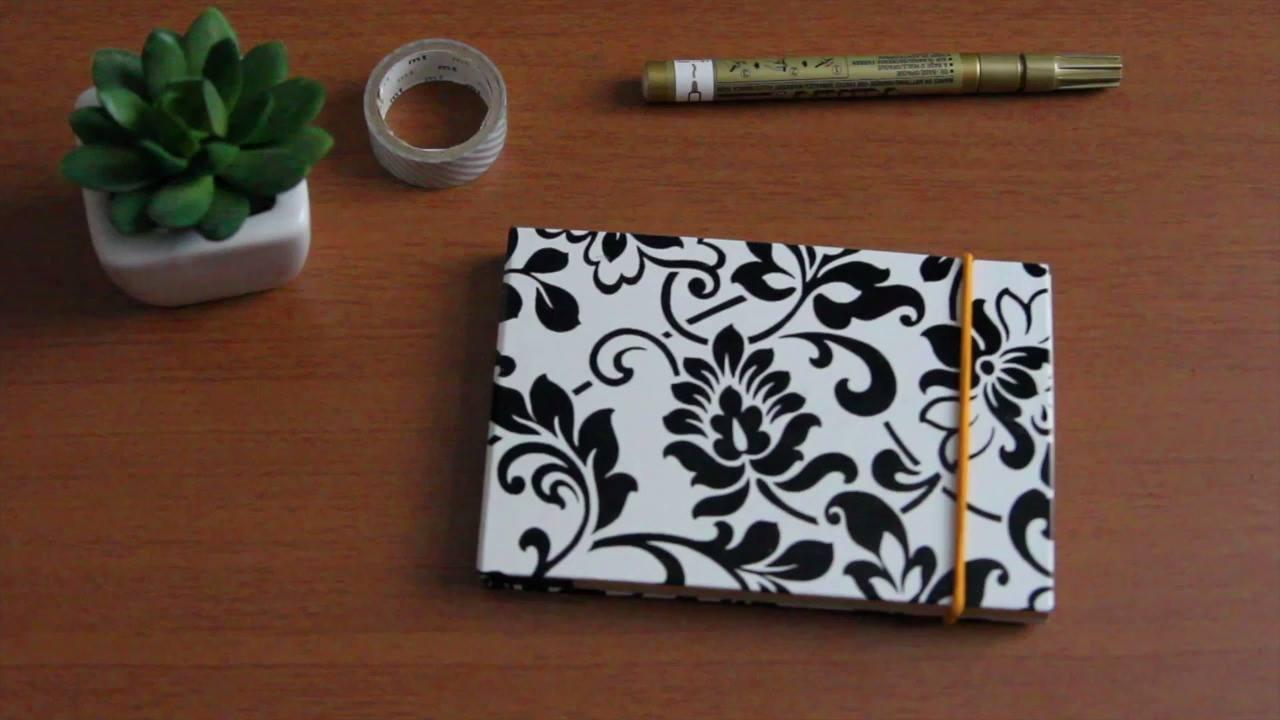 Tutorial de caderninho tipo moleskine
