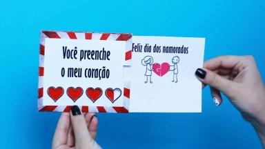 Tutorial De Cartão Par Ao Dia Dos Namorados, Olha Só Que Ideia Super Fofa!