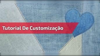 Tutorial De Como Customizar Jaqueta Jeans, Chinelo De Dedo E Muito Mais!