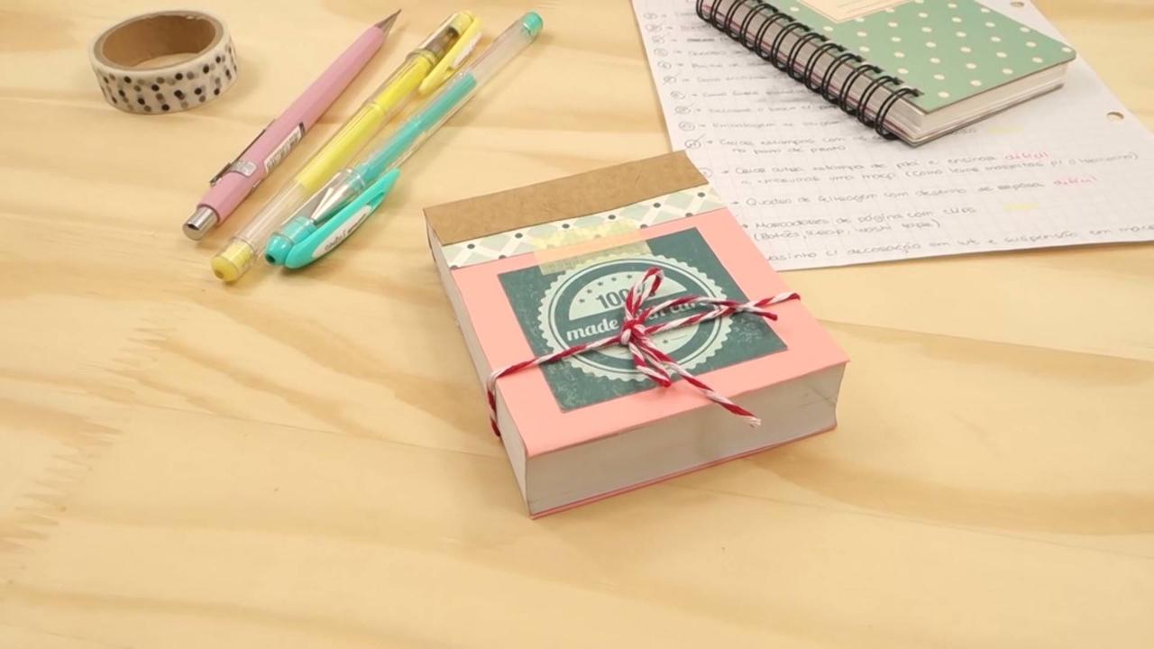 Tutorial de como fazer bloco de notas personalizado