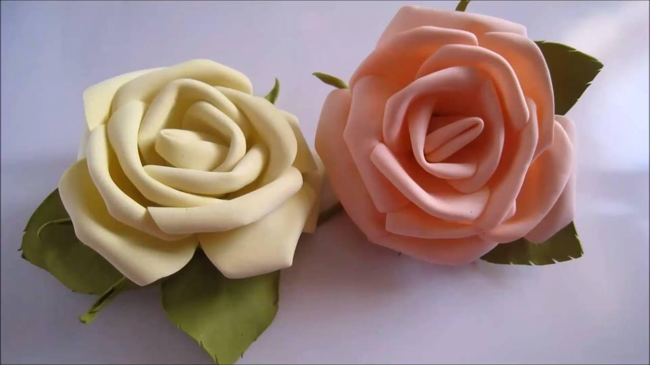 Tutorial de como fazer rosas em EVA