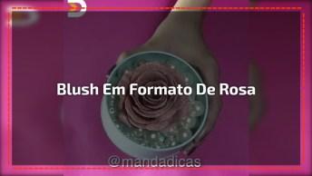 Tutorial De Como Fazer Um Lindo Blush Em Formato De Rosa, Confira!
