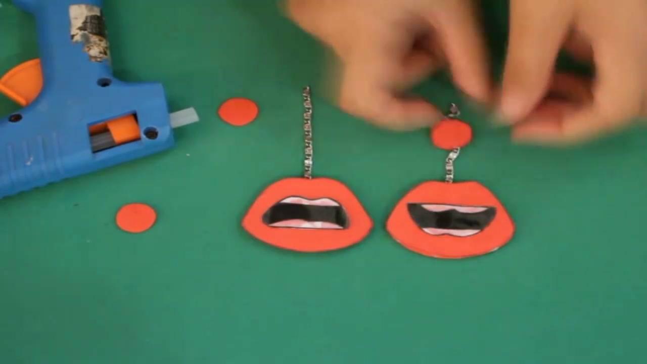 Tutorial de como fazer um lindo brinco com formato de boca