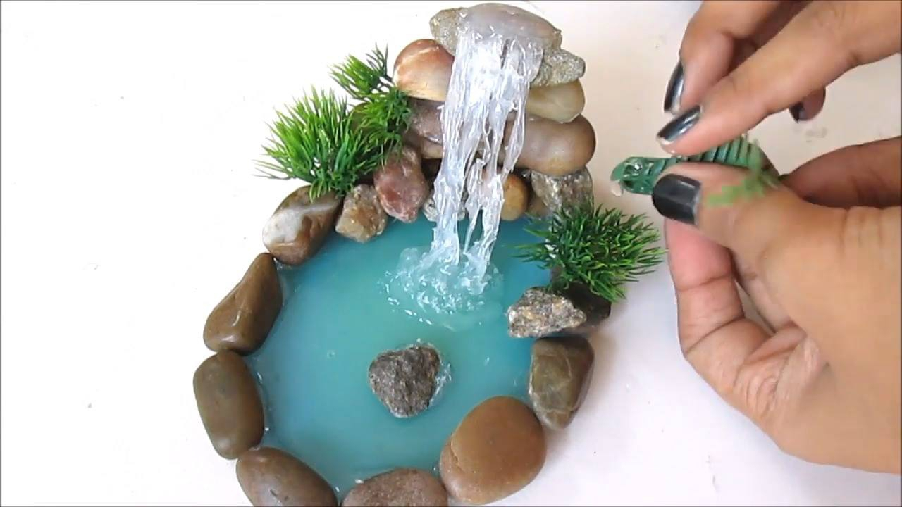 Tutorial de como fazer uma mini cachoeira para decorar sua casa