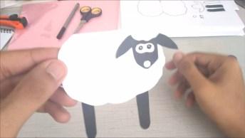 Tutorial De Como Fazer Uma Ovelhinha Para Contar Historinhas Para Crianças!