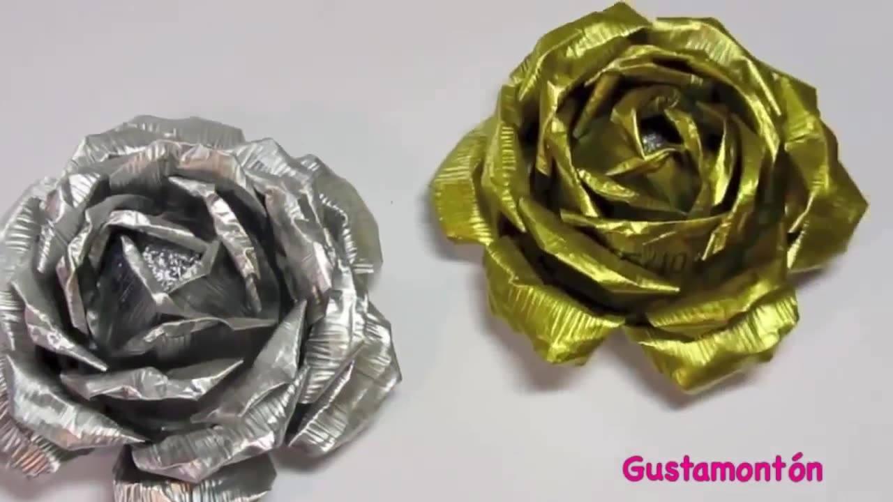 Tutorial de como transformar forminha de alumínio em lindas rosas