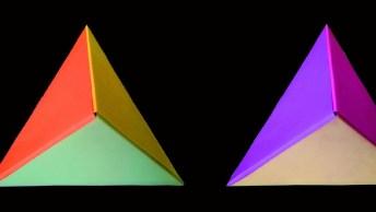 Tutorial De Dobradura De Triangulo, Olha Só Que Legal Este Vídeo!