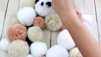 Tutorial De Enfeites De Natal Feitos Com Pompom De Lã, Simplesmente Fofinhos!