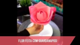 Tutorial De Flor Feita Com Guardanapos Para Decoração De Mesa!