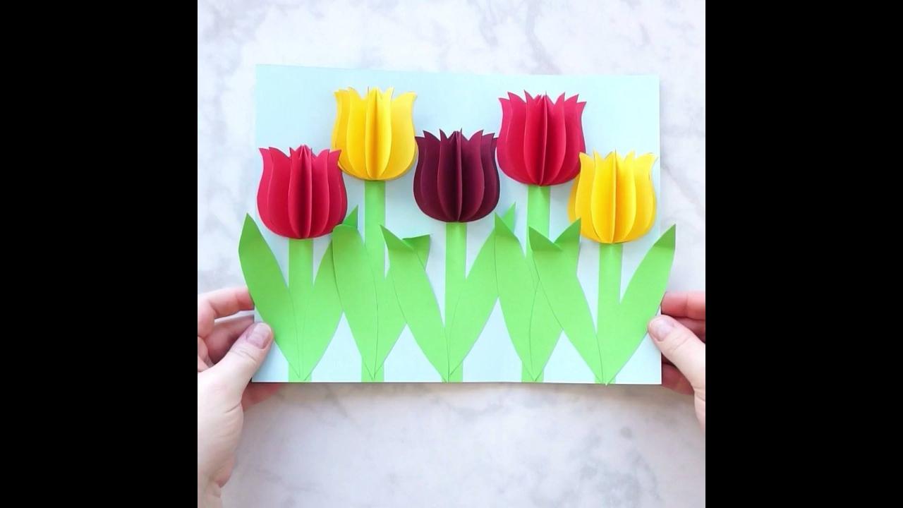 Tutorial de flores 3D, olha só que coisa mais linda que fica