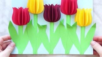 Tutorial De Flores 3D, Olha Só Que Coisa Mais Linda Que Fica!