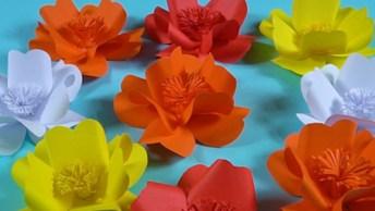 Tutorial De Flores De Papel Colorido, Veja Como Elas São Fáceis De Fazer!