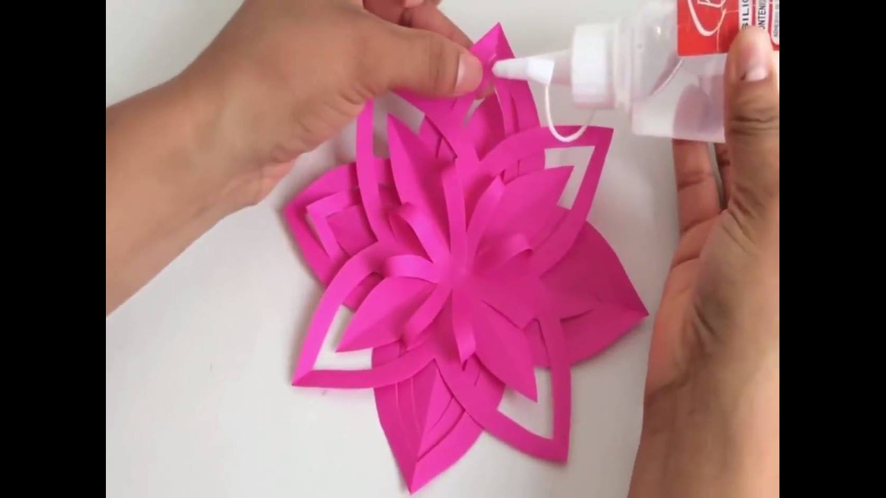 Tutorial de flores de papel decorativas
