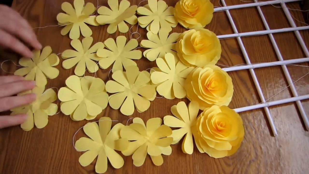 Tutorial de flores de papel lindinhas e super fáceis de fazer