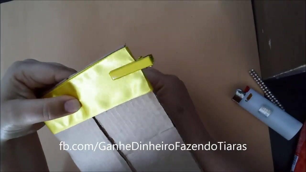 Tutorial de laço para tiara