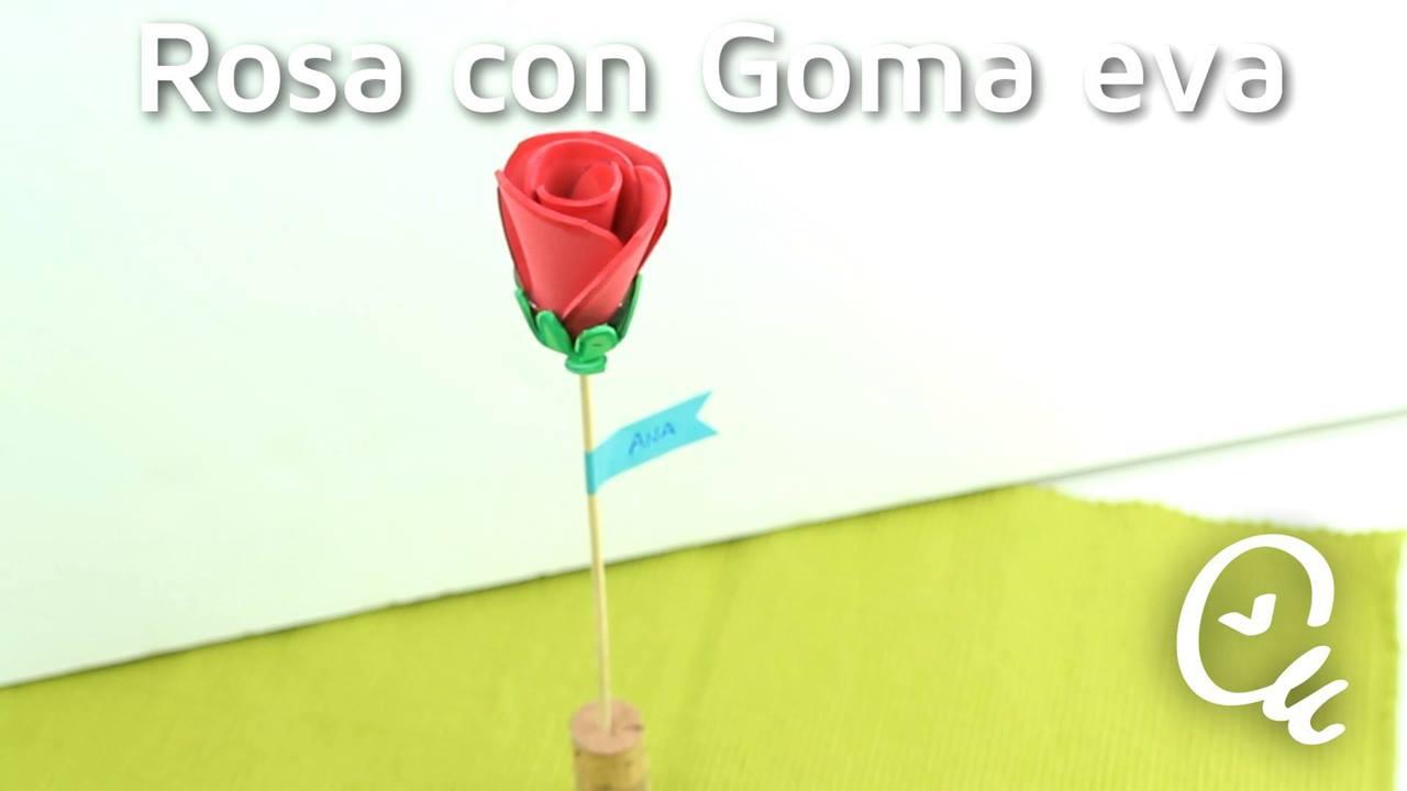 Tutorial de rosa de EVA perfeita para lembrancinha de aniversário