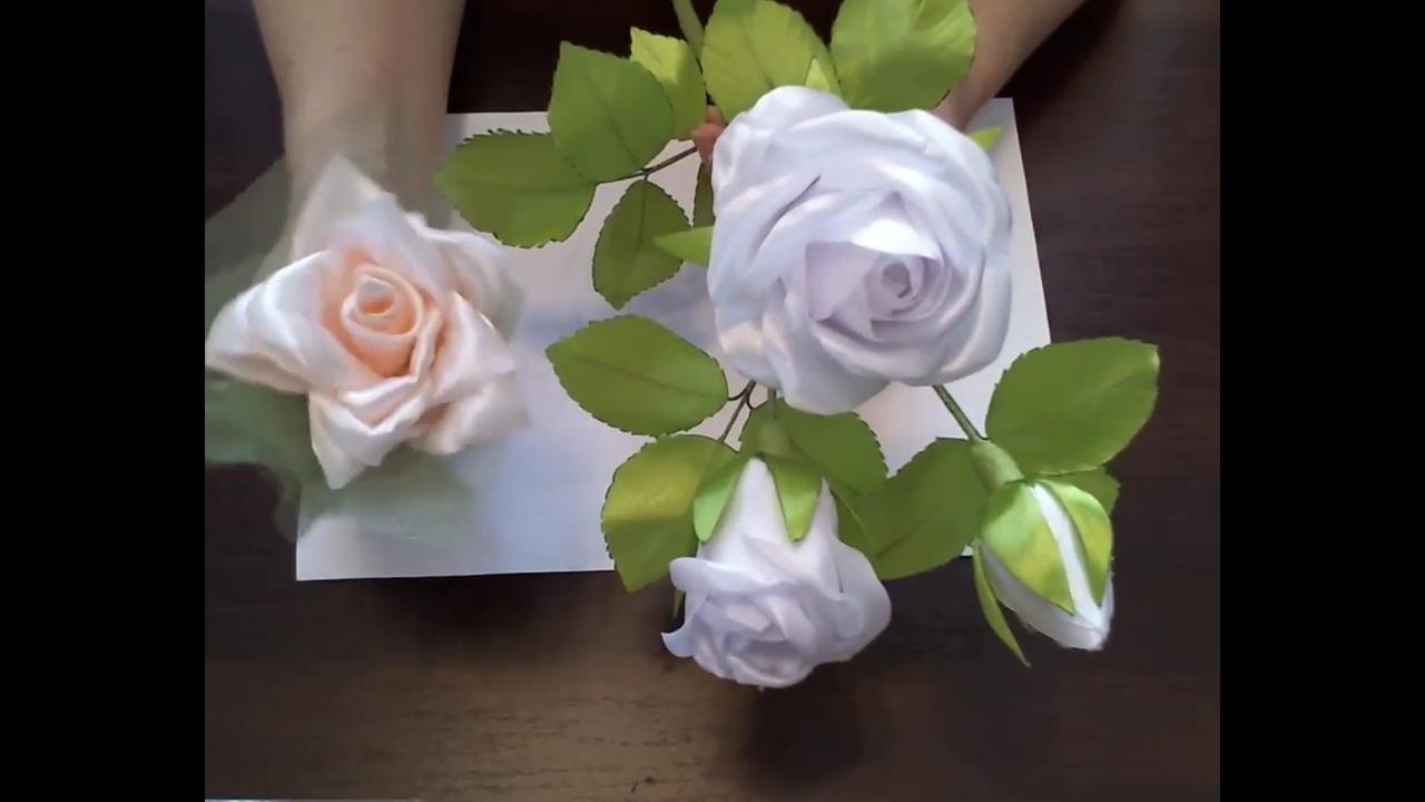 Tutorial de rosas feitas com fita de cetim