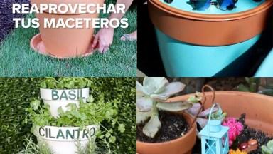 Vídeo Com Artesanato Com Vasos De Plantas, Você Pode Usa-Los De Várias Formas!