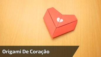 Vídeo Com Dobradura De Papel Em Formato De Coração Lindo Para Presentear!
