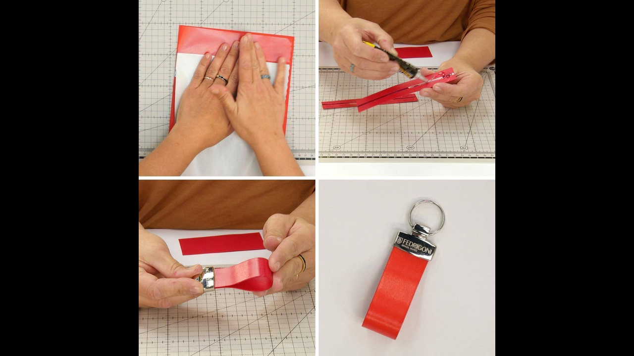 Video de artesanato que ensina a fazer um chaveiro