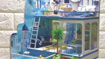 Vídeo Mostrando Construção De Casinha Em Miniatura, Você Vai Se Encantar!
