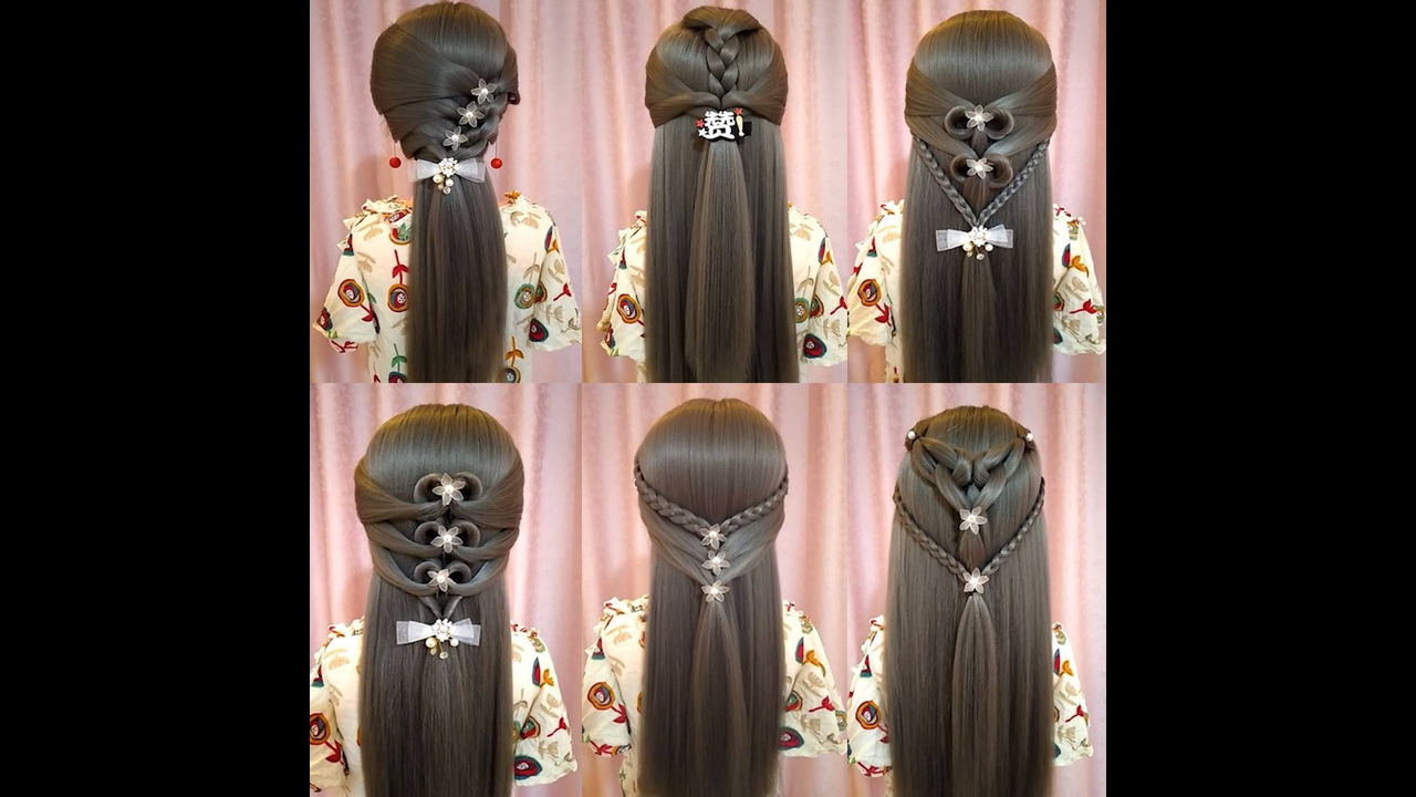 6 Penteados diferentes para você aprender a fazer, ficam lindos!