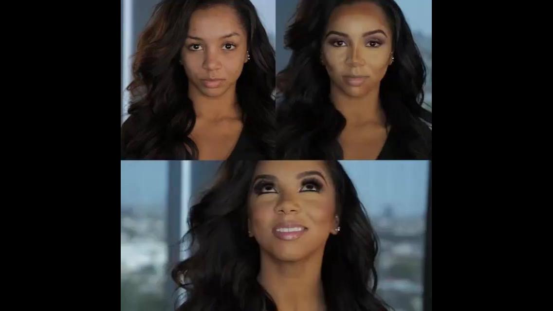 Antes e depois com maquiagem, o resultado impressiona
