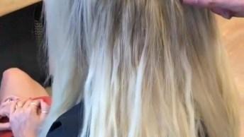 Antes E Depois De Colocar Mega Hair, Olha Só Como Fica Perfeito!