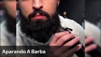 Aparando A Barba Na Máquina, O Resultado É Muito Bonito!