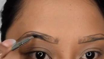 Aumentando A Sobrancelha Com Maquiagem, O Resultado Fica Super Natural!