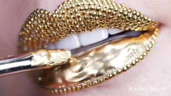 Batom Dourado Mais Extravagante Que Você Já Viu, Teria Coragem De Usar?