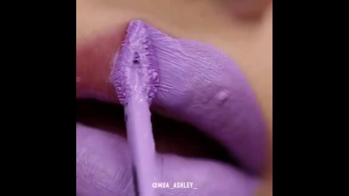 Batom lilás pastel matte, veja como fica lindo, vale a pena conferir!!!