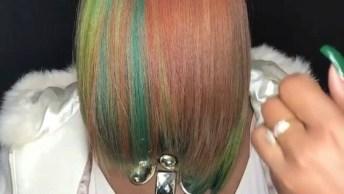 Cabelo Colorido, Olha Só Que Cores Lindas, Em Uma Técnica Maravilhosa!