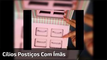 Cílios Postiços Com Ímãs, Super Fácil De Colocar, Confira!