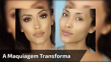 Como A Maquiagem Pode Deixar Uma Mulher Bonita, Em Mais Bonita Ainda!