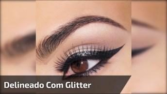 Como Fazer Delineado Preto Com Glitter, O Resultado Fica Lindo!