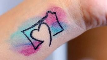 Como Fazer Uma Tatuagem Falsa, O Resultado Fica Perfeito!