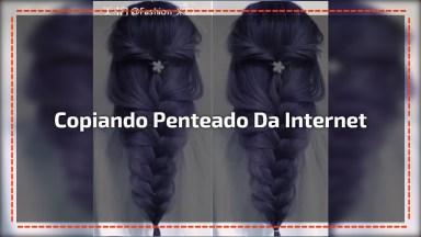 Copiando Penteado Da Internet, O Resultado Ficou Bem Parecido!