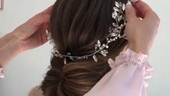 Coque Baixo Simples Com Tiara, Um Penteado Perfeito Para Noivas!