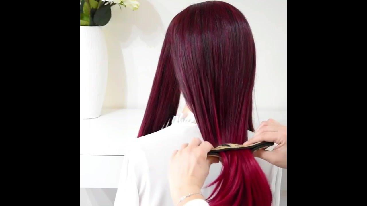 Coque para cabelos longos com acessório