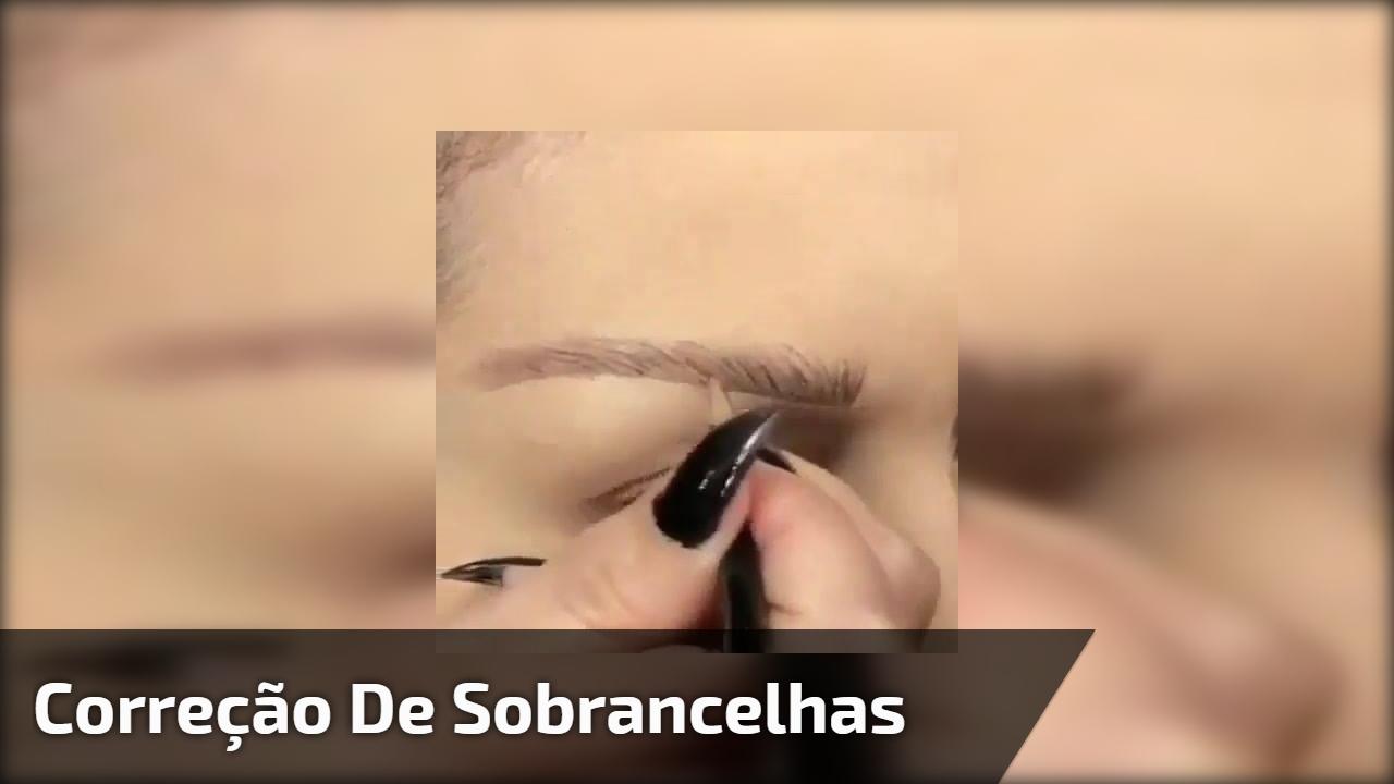 Correção de sobrancelhas