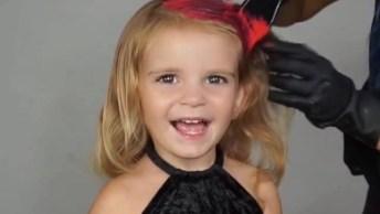 Criança Pintando O Cabelo De Rosa, E Muito Mais Em Apenas Um Vídeo!