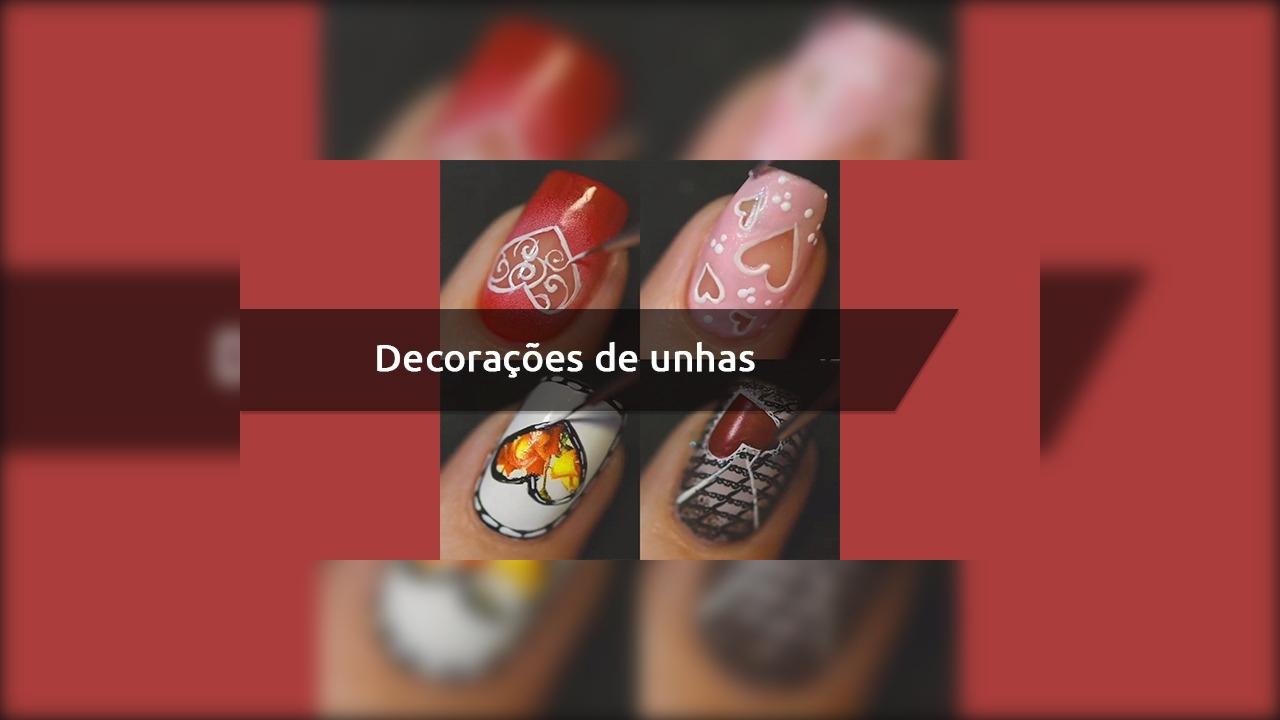 Decorações de unhas para o Dia dos Namorados