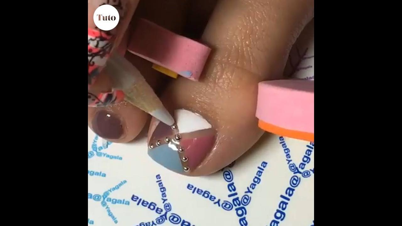 Decorações para unhas dos pés