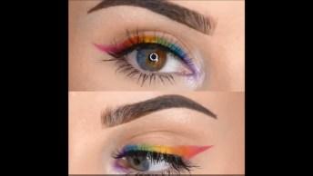 Delineado Colorido, Veja Como Fazer Essa Linda Dica Nos Olhos!