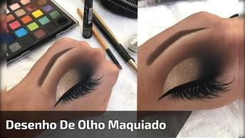 Desenho De Olho Maquiado, Simplesmente Perfeito, Uma Verdadeira Obra De Arte!