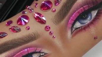 Desenho De Olhos Maquiados No Braço, Que Coisa Mais Perfeita!