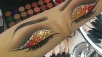 Desenho Na Mão De Olhos Perfeitos Com Maquiagem, Confira!