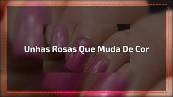 Esmalte Cor De Rosa Que Muda De Cor Quando Fica Gelado, Olha Só Que Legal!
