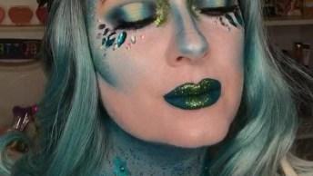Ideia De Maquiagem Artística Para Pular Carnaval, Veja Que Ideia Incrível!